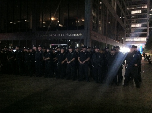 Riot Police Gather In Masses In NYC To Disperse 50000 Occupy Wall Street Protestors