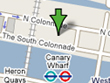 Map of Canary Wharf