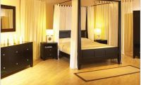 Contemporary Canopy Bed and Bedroom Sets Made from Wood