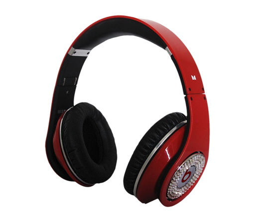 Monster Beats By Dr. Dre Studio Headphones (Red And White Diamond Limited Edition)