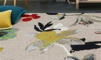 Retro Flower Pattern Carpets Decorating Ideas by Casalis Belguim