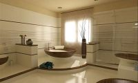 Contemporary and Stylish Wooden Bathroom Design Ideas by Flora