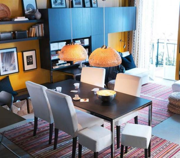 Brown and white Modern 2012 IKEA Dining Room Design and Decorating Ideas