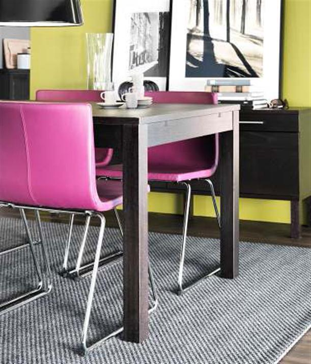 With black and white rugs Modern 2012 IKEA Dining Room Design and Decorating Ideas