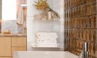 Luxury and Unique Hand Crafted Glazed Bathroom Tiles with Gold Color by ModCraft