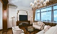 Luxury and Modern Russian Apartment Interior Design with Full Artistic Ornament Inside