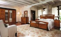 Italian Bedroom Design Ideas with Wooden Furniture Set