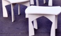 Modern and Creative Modular Puzzle Like White Table