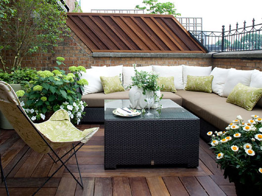 Patio Green and Natural Terrace Garden Design Ideas