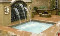 Swimming Pool Spas With waterfalls and spillways