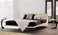 Cool Floating Air Bed – Dylan Modern Leather Bed by Andrea Lucatello
