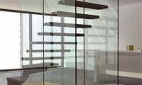 Stylish and Cool Glass Staircase with Modern Contemporary Design