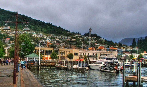 At the Queenstown harbor