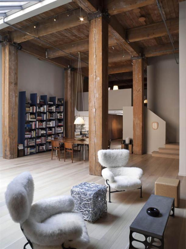 Wooden Roof at Apartment Interior Design with Contemporary and Modern Style
