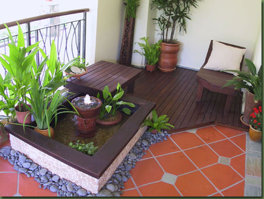 Green and Natural Terrace and balcony Garden Design Ideas