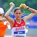 Yelena Lashmanova en route to a World junior record in the 10,000m Race Walk