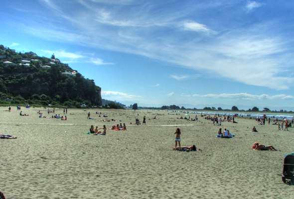 Sea-side fun at the beach of Sumner