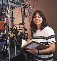 Deborah Jin in her laboratory at JILA