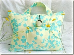 floral travel pillow with handle