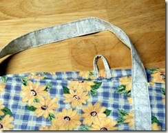 cloth grocery bag with sunflower design