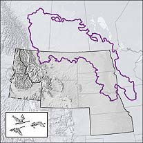 Map of the Prairie Pothole Region of North America