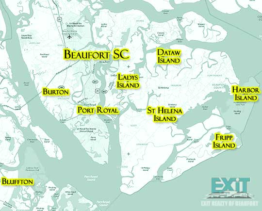 Beaufort South Carolina Search map for Properties for Sale