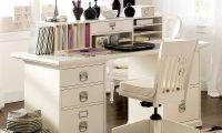 Great Rectangular Workspace Desk Set – A Hardwood Home Office Furniture