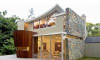 Simple Home with Beautiful Contemporary Design features Traditional Front Facade