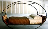 Contemporary Rocking Bed with Modern and Unique Design by Shiner