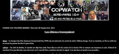 """Le site Copwatch qui """"fliquait"""" les policiers a été interdit vendredi."""