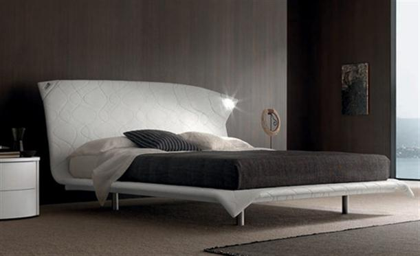 Brown Contemporary Italian Bending Bed