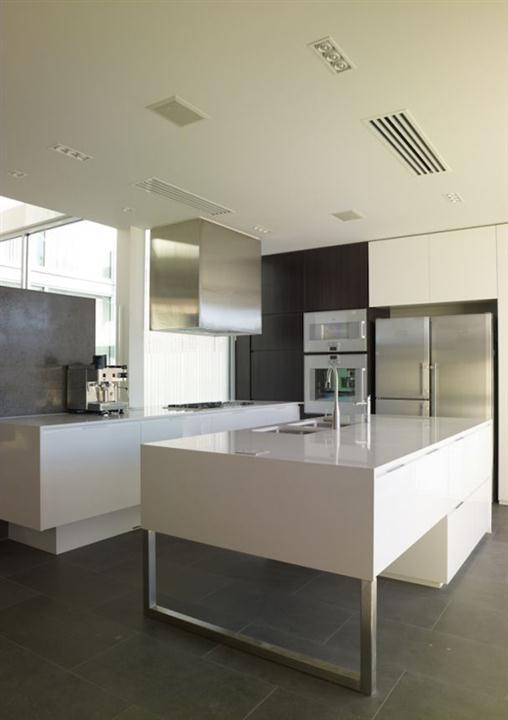 Contemporary concrete ship sail walls home design Kitchen cabinets