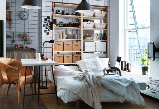 White brown Modern 2012 IKEA Living Room Design and Decorating Ideas