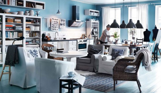 Near dining area Modern 2012 IKEA Living Room Design and Decorating Ideas