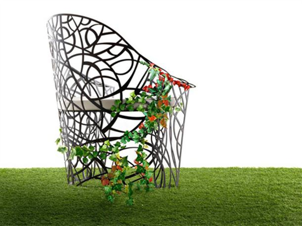 SIngle Garden Furniture Set with Unique and Artistic Design
