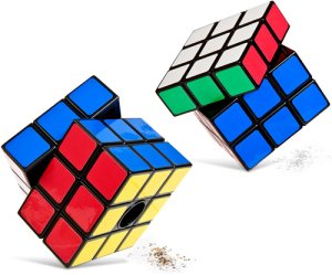 Rubik's Cube Salt And Pepper Shakers rubiks cube salt pepper shaker