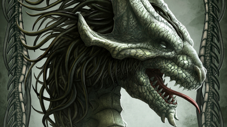 Silver Picture  (2d, fantasy, kerem beyit, dragon, fantasy art)
