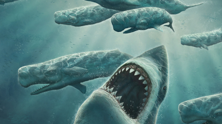 Out of Blue Picture  (2d, shark, megalodon, sea monsters, underwater)