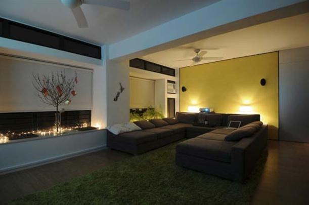 Comfortable sofa at Contemporary Interior Design Matsuki Residence