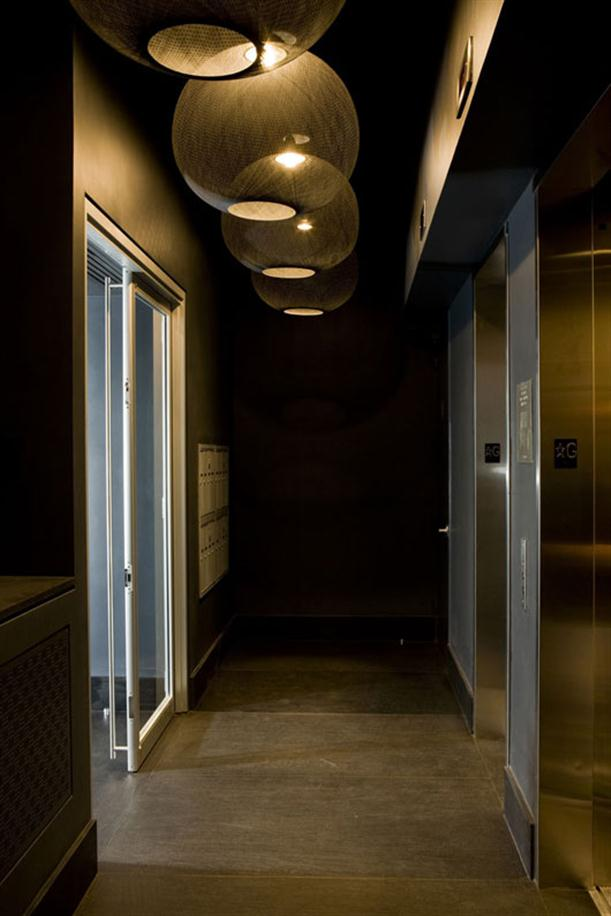 Pathway on Black and White Apartment Interior Renovation