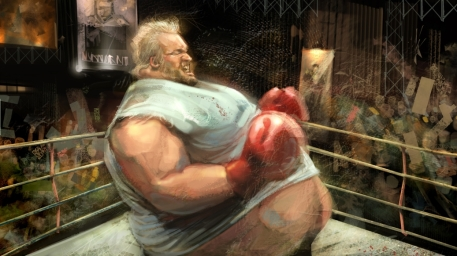 Speed painting practice-printscreen of wolverine Picture  (2d, fan art, fight, fat, boxer)