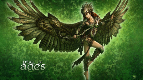 Kiri Silvertip Picture  (2d, wings, girl, woman, archer, fantasy)