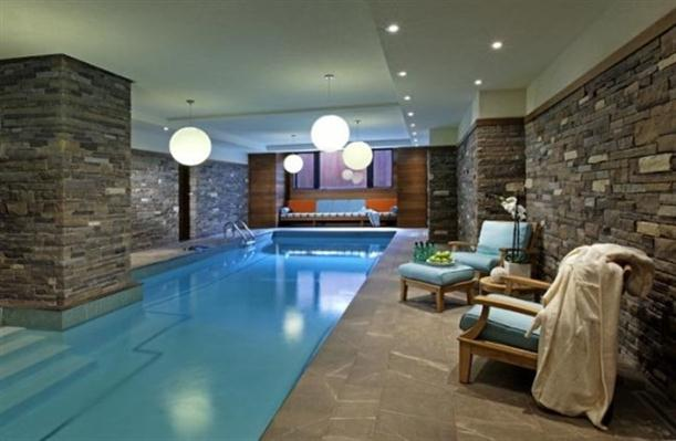 Indoor Modern and Cozy Poolside Area Design Inspiration