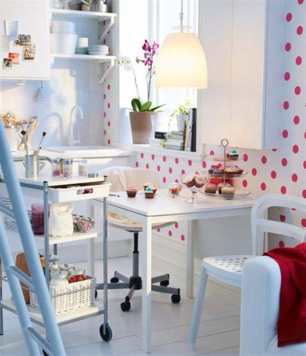 Polkadot Modern 2012 IKEA Dining Room Design and Decorating Ideas