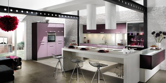 Contemporary Violet French Style Kitchen Design