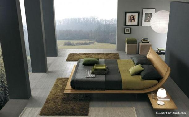 Grey nature Contemporary Bedrooms decorating From Presotto
