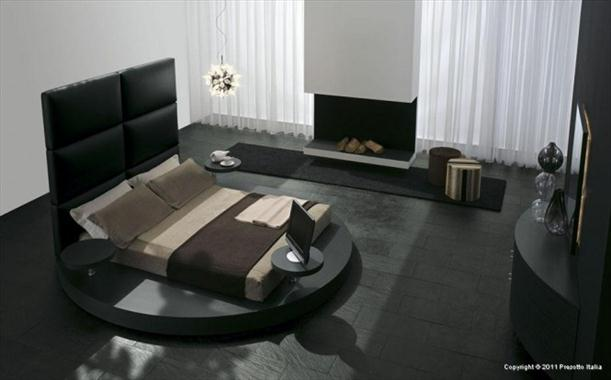 Black dominant Contemporary Bedrooms decorating From Presotto