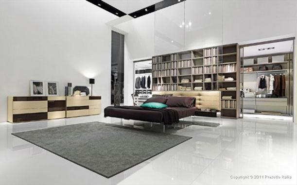 Ceramic floor and wall Contemporary Bedrooms decorating From Presotto