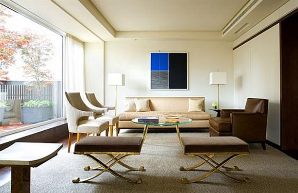 Living Room with large glazing wall on Modern Interior Design by Shawn Henderson