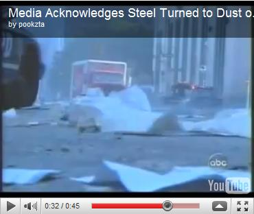 Media Acknowledges Steel Turned to Dust on 9/11 (Short Clip) | ABC News